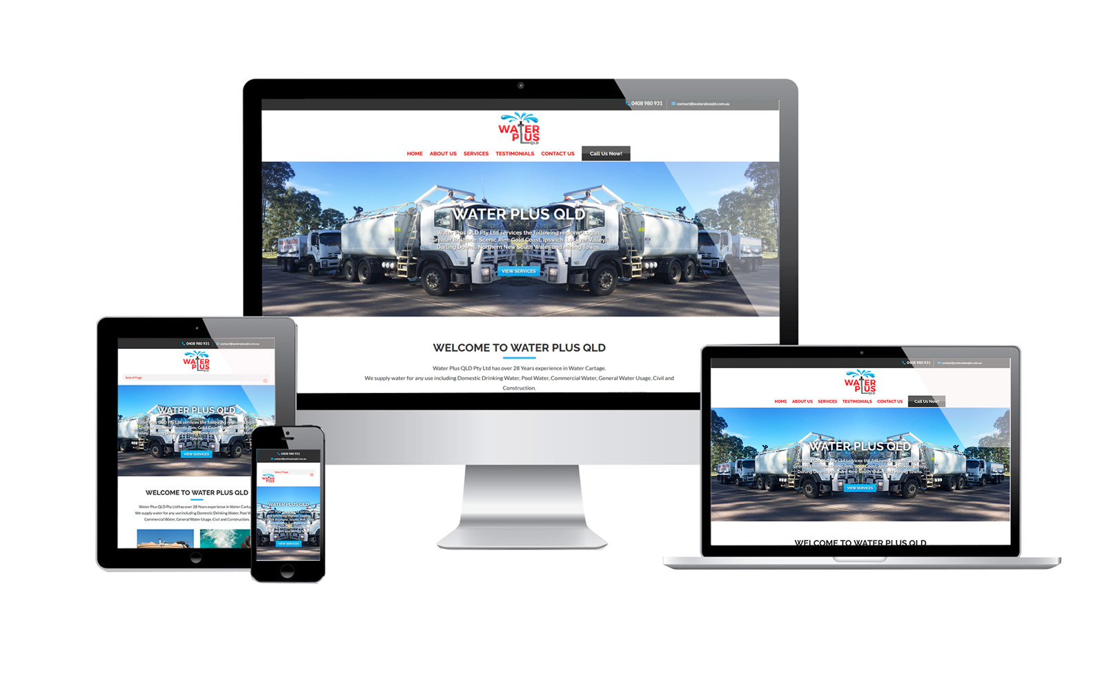 water deliver - website design